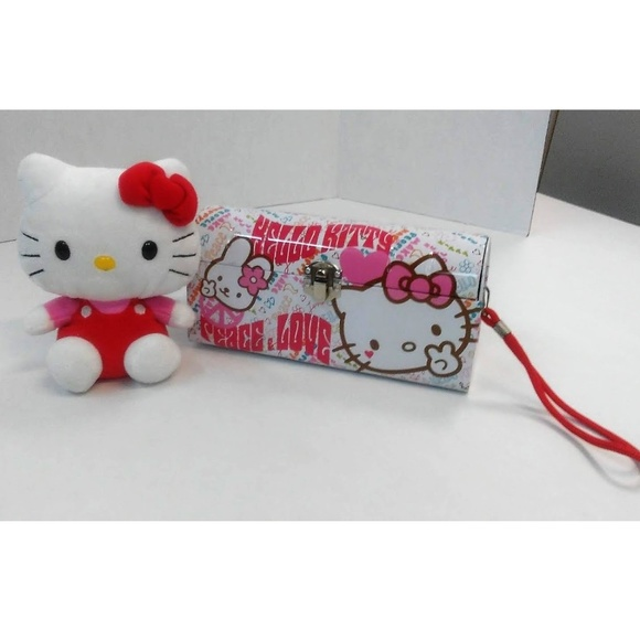3bfd96b1a Hello Kitty Bags | Carry All Tin Clutch Purse With String | Poshmark